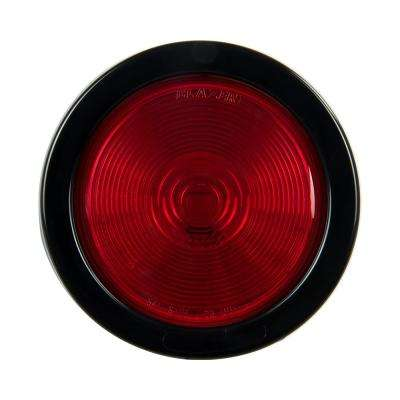 Stop/Tail/Turn 4 in. Sealed Round Lamp Red