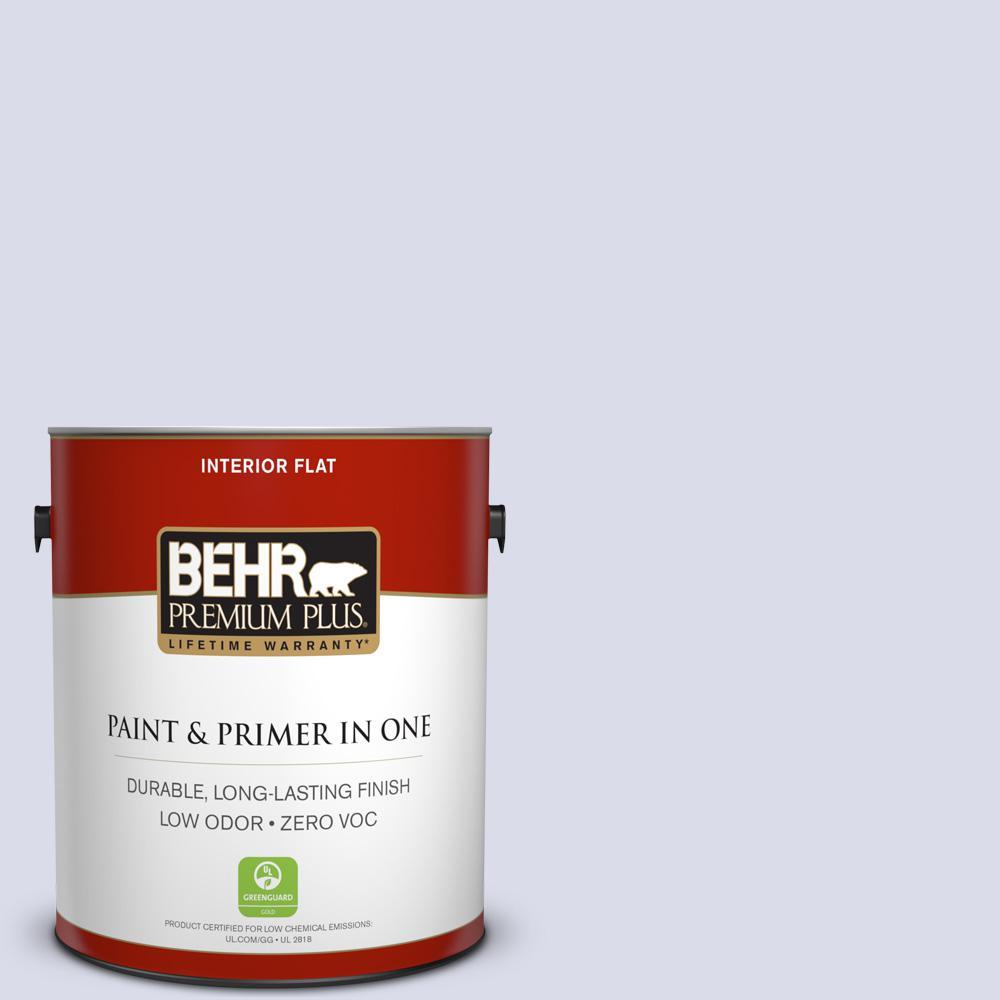 BEHR Premium Plus 1 gal. #610A-2 Crocus Petal Flat Zero VOC Interior Paint and Primer in One