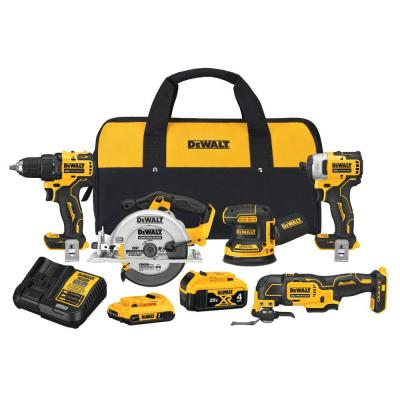 20-Volt MAX XR Cordless Combo Kit (5-Tool) with (1) 20-Volt 4.0Ah Battery, (1) 20-Volt 2.0Ah Battery & Charger