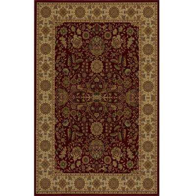 Lovely Red 11 ft. x 15 ft. Area Rug