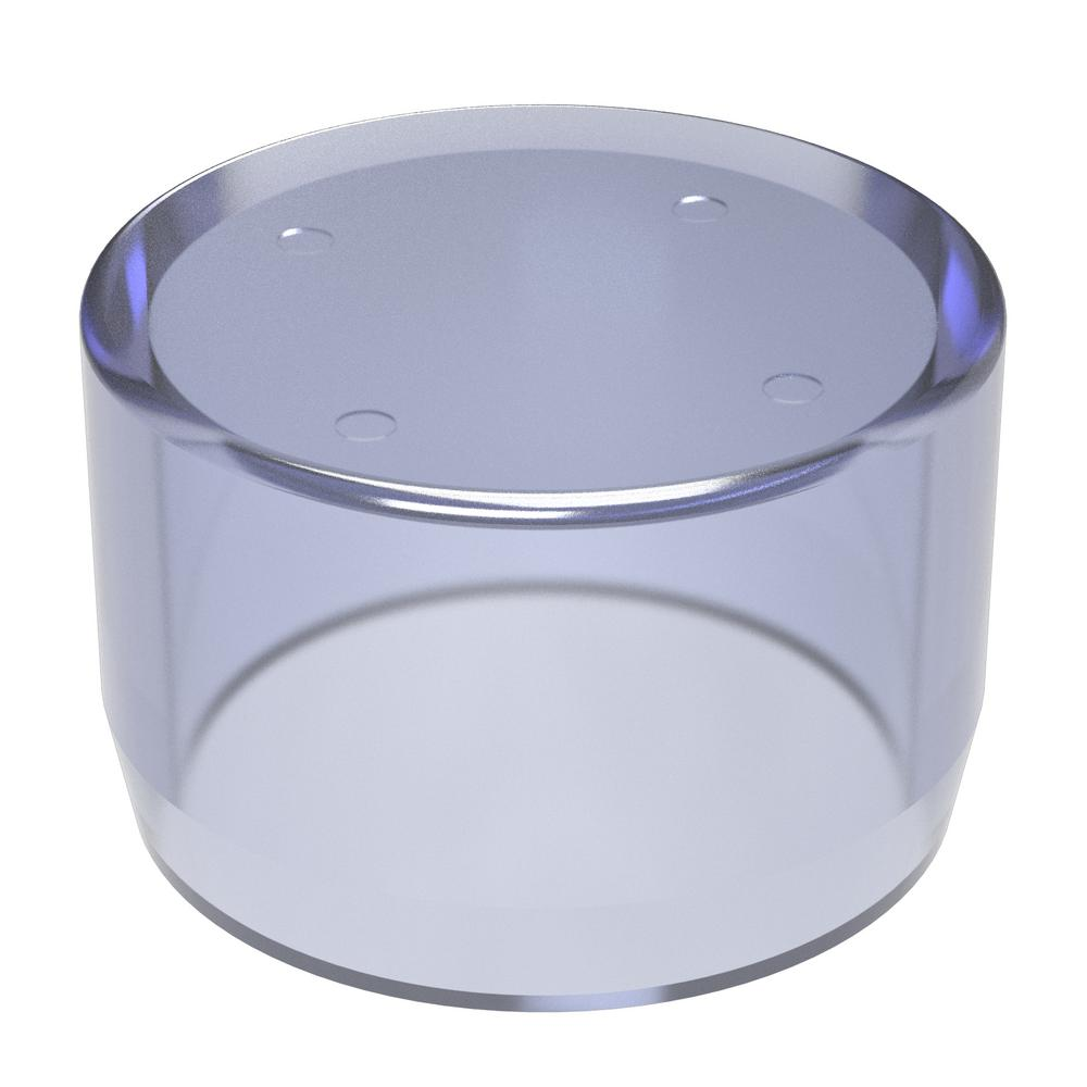 Formufit 1-1/4 in. Furniture Grade PVC External Flat End Cap in Clear