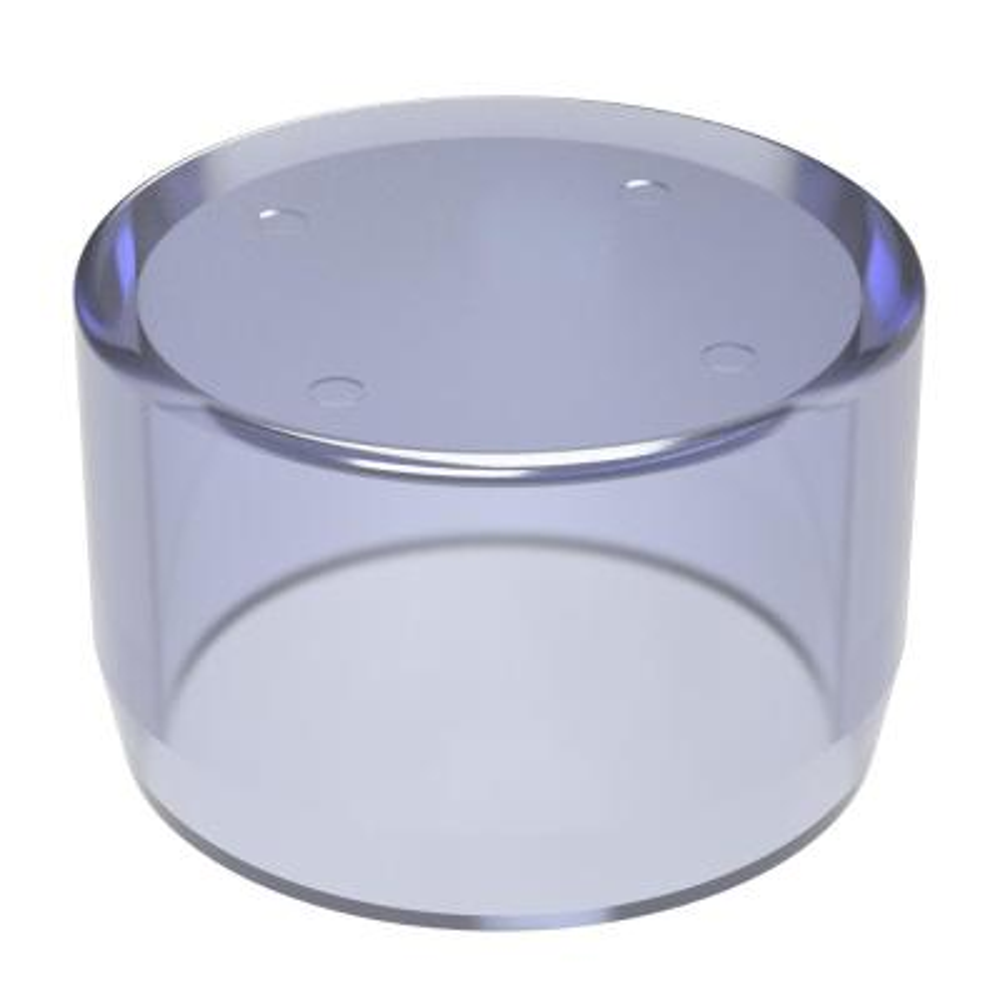 1-1/4 in. Furniture Grade PVC External Flat End Cap in Clear
