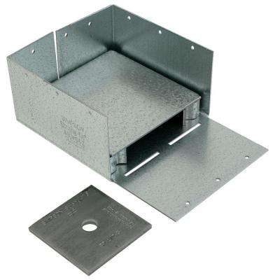 ABW ZMAX Galvanized Adjustable Standoff Post Base for 6x6 Nominal Lumber