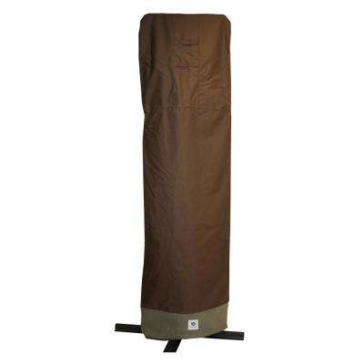 Ultimate 101 in. Brown Patio Offset Umbrella Cover with Integrated Installation Pole
