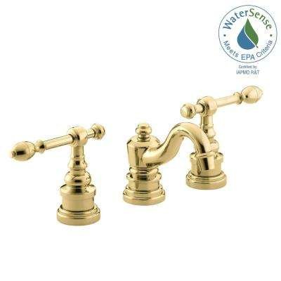 IV Georges Brass 8 in. Widespread 2-Handle Low-Arc Bathroom Faucet in Vibrant Polished Brass