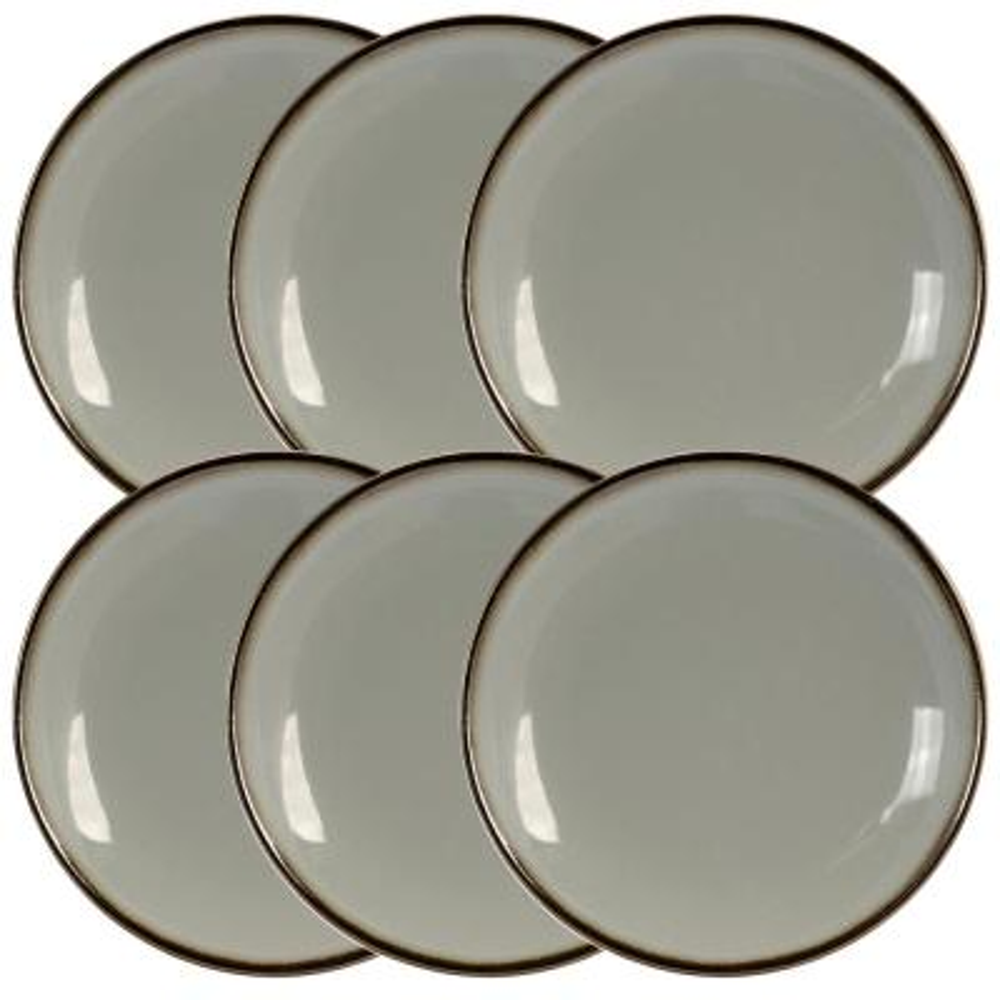 Tahitian Sand Light Grey Salad Plate (Set of 6)