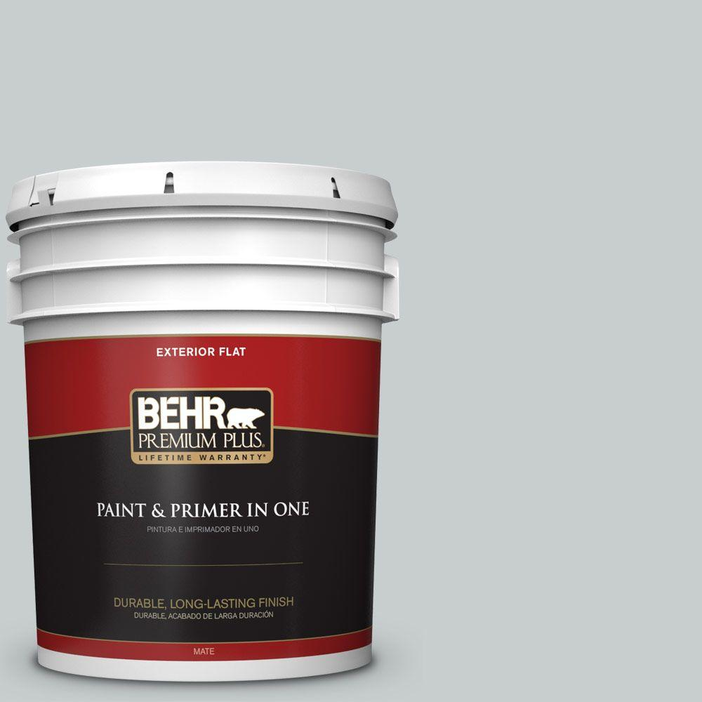 5-gal. #720E-2 Light French Gray Flat Exterior Paint