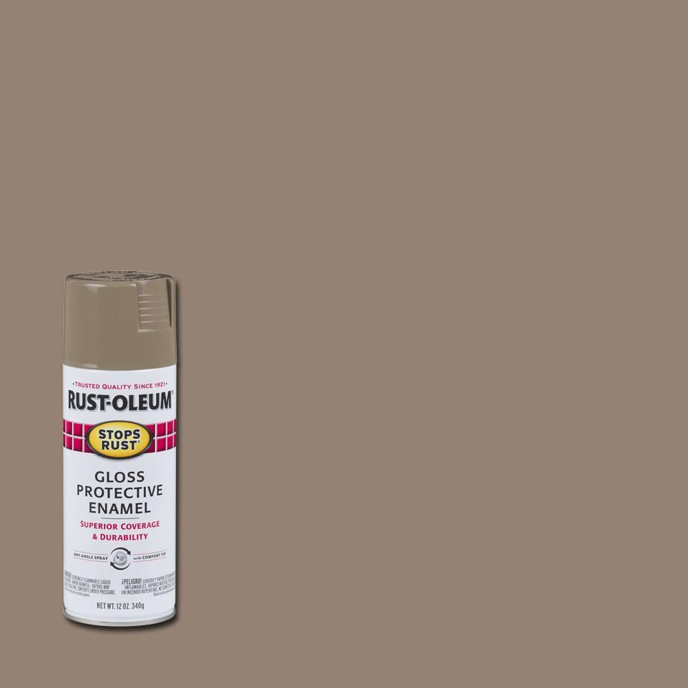 12 oz. Protective Enamel Gloss Cambridge Stone Spray Paint (6-Pack)