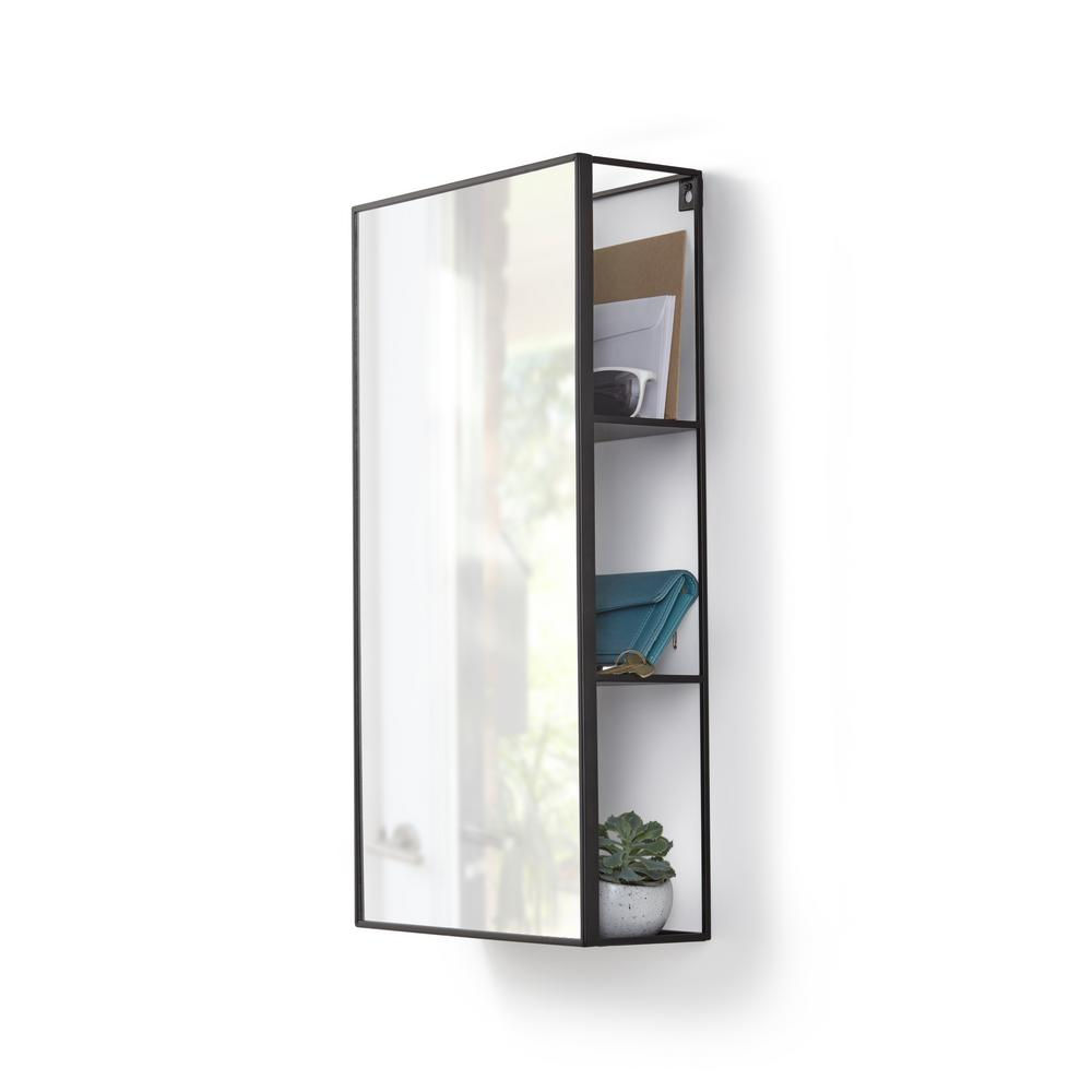 Etonnant Umbra Cubiko Mirror And Storage Unit In Black