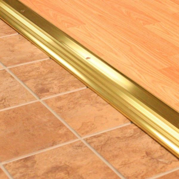 M D Building Products High Dome Top 4 In X 64 1 2 In Bronze Aluminum Threshold 99107064500 The Home Depot