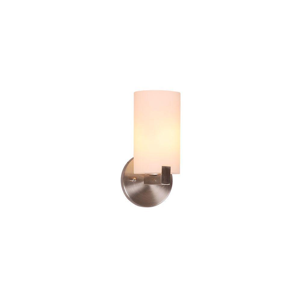 Eastport 1-Light Satin Nickel Indoor Wall Light