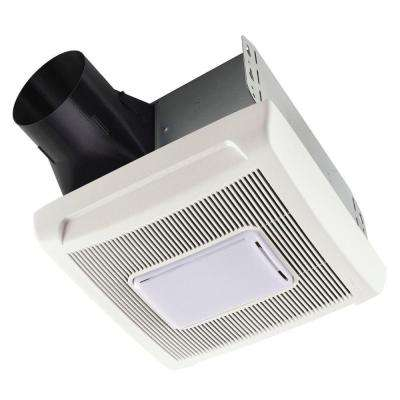 InVent Series 110 CFM Ceiling Installation Bathroom Exhaust Fan with Light