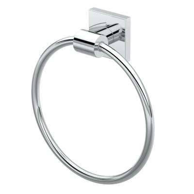 District II Towel Ring in Chrome