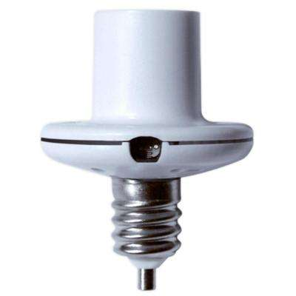 40-Watt Candelabra Screw-In Dusk to Dawn Light Control, White (3-Pack)