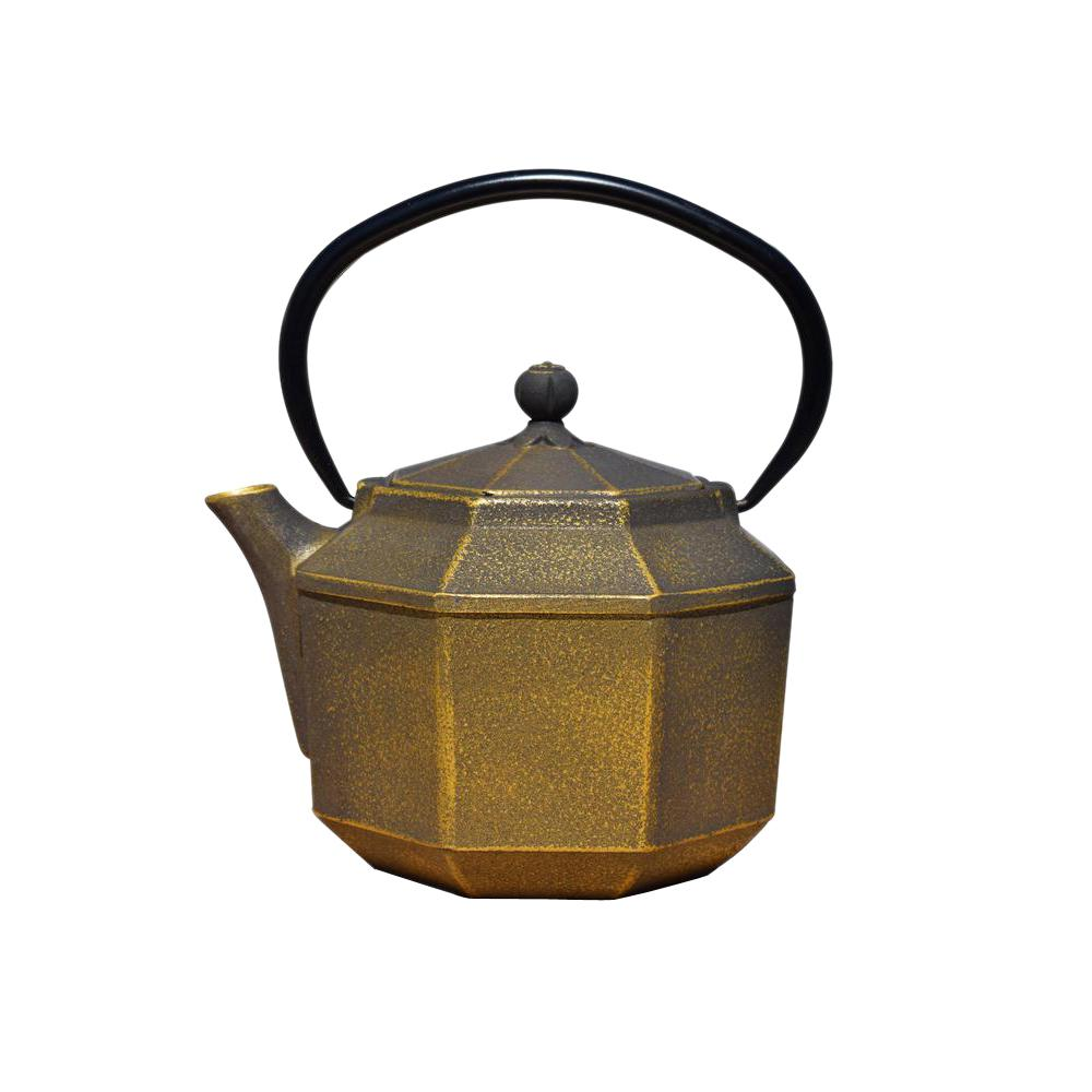 Old Dutch Pagoda 3.5-Cup Teapot in Black and Gold, Blakc/...