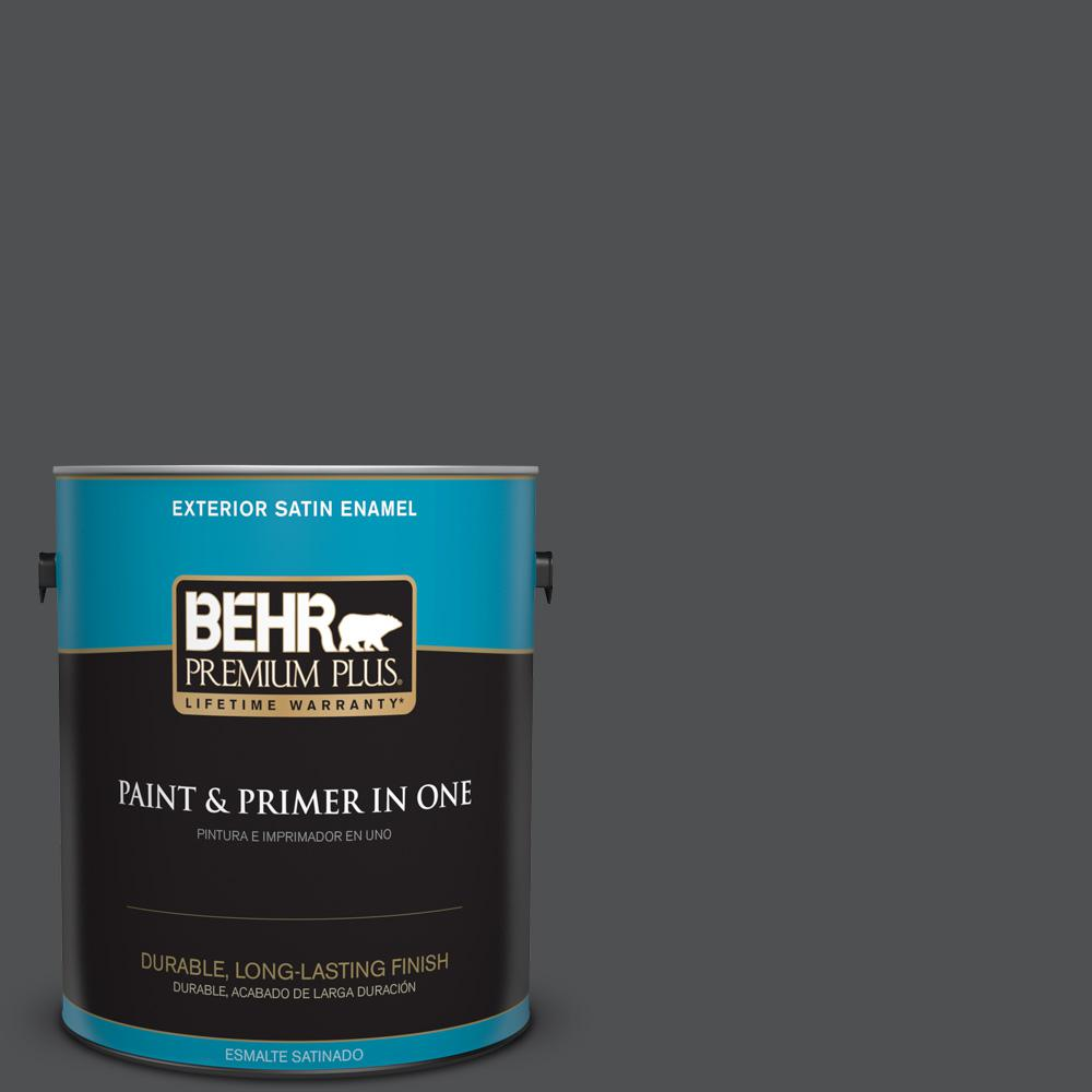 1 gal. #PPU18-01 Cracked Pepper Satin Enamel Exterior Paint