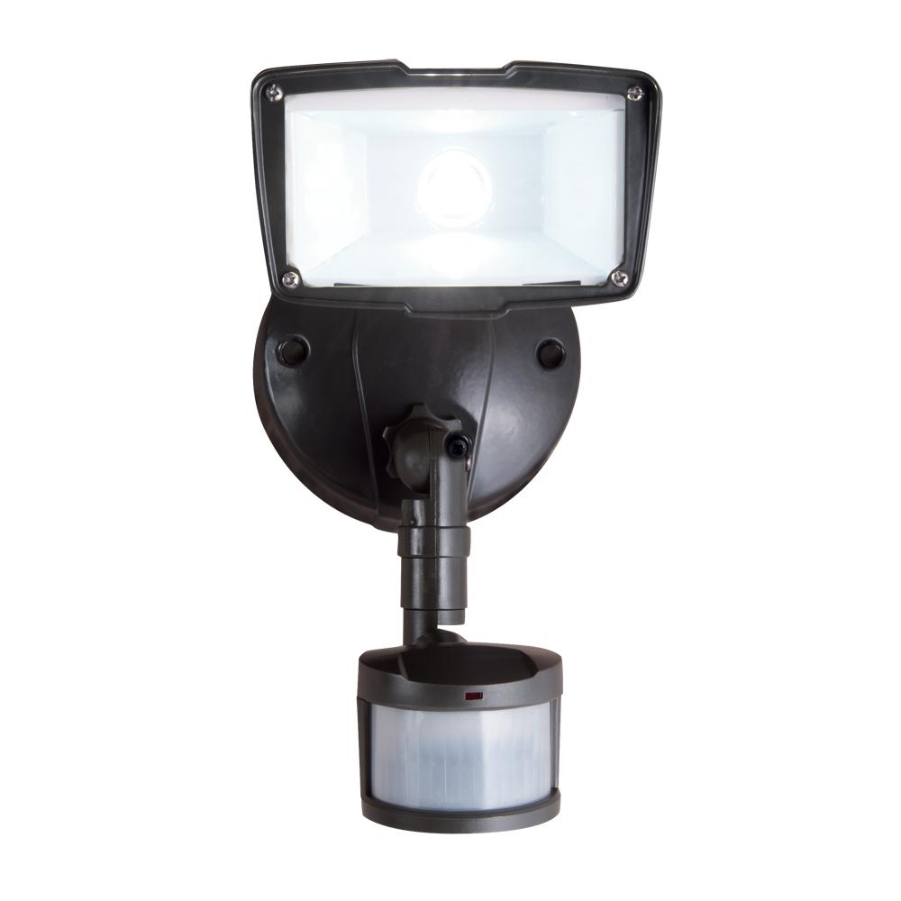 All-Pro 110-Degree Bronze Motion Activated Sensor Outdoor Integrated LED Security Flood Light