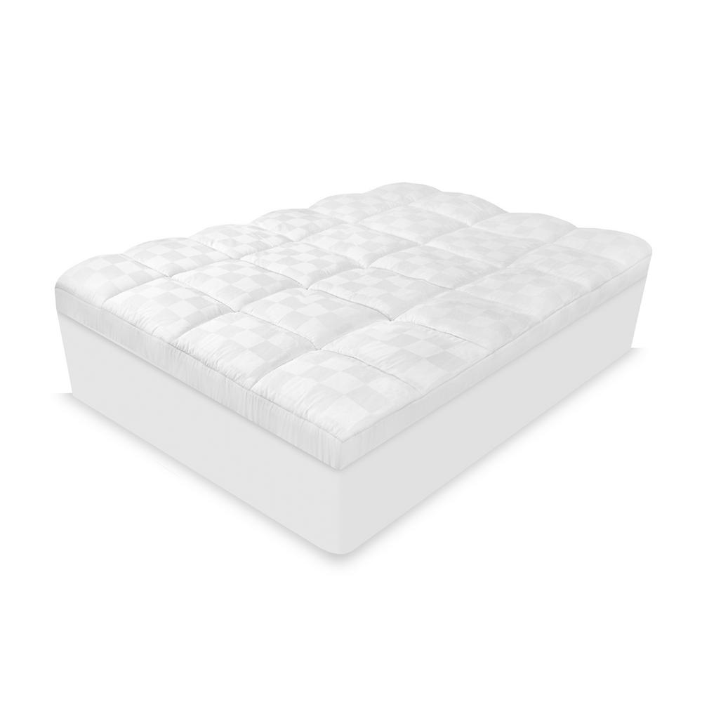 Luxury Euro-Top 500-Thread Count Full Mattress Pad