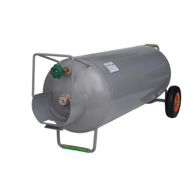 100 lbs. Horizontal and Vertical HOG Propane Cylinder with Wheels
