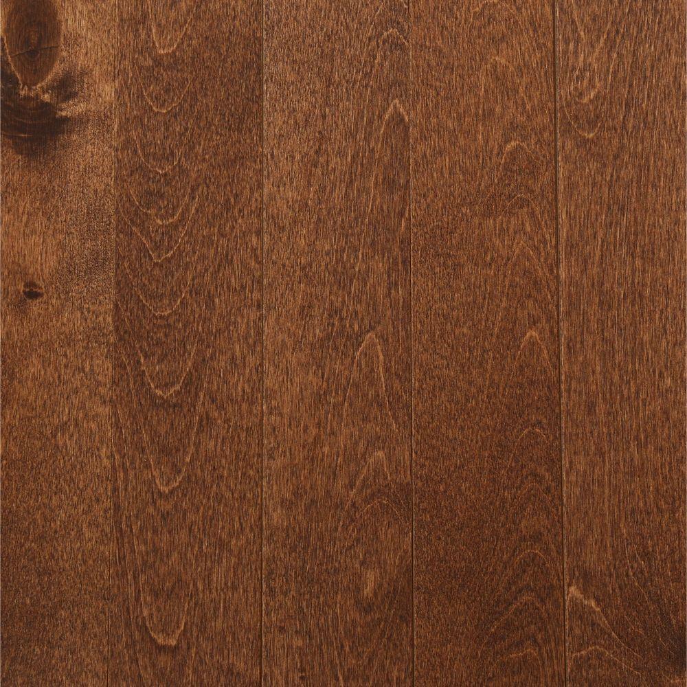 MONO SERRA Take Home Sample - Northern Birch Cappuccino Solid Hardwood Flooring - 3-1/4 in. x 4 in.