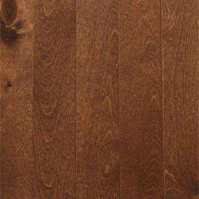 Take Home Sample - Canadian Northern Birch Cappuccino Solid Hardwood Flooring - 2-1/4 in. x 4 in.