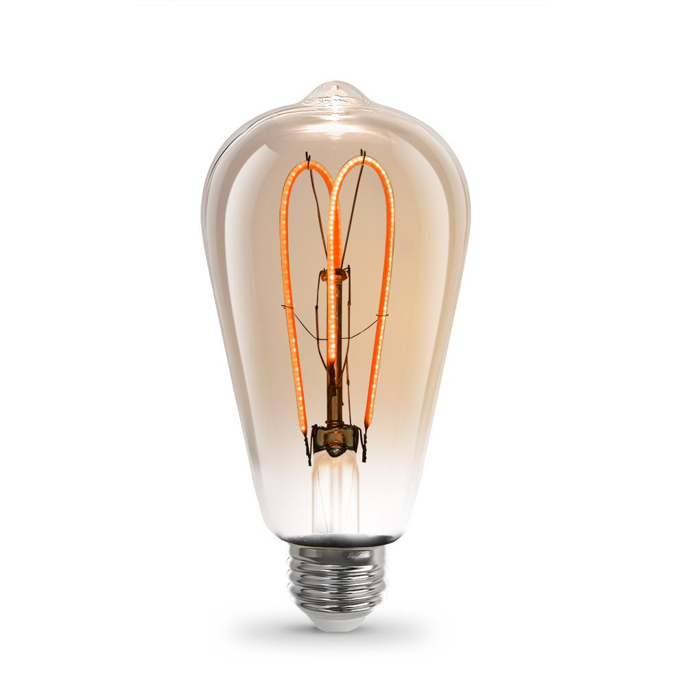 Feit Electric 40w Equivalent Soft White 2150k St19: Philips 60W Equivalent Soft White F15 Post Light Dimmable