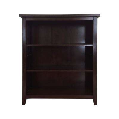 Brookdale Dark Walnut 3-Shelf Standard Bookcase
