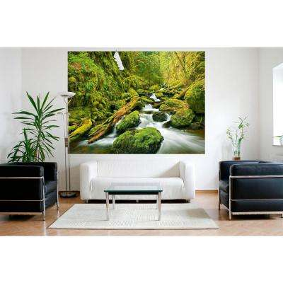 63 in. H x 79 in. W Green Canyon Cascades Wall Mural