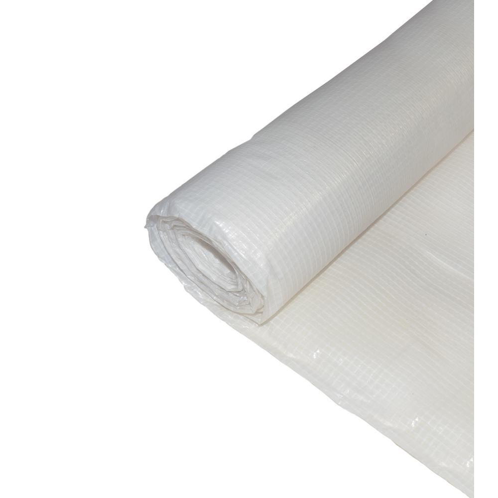 BOEN 10 ft. X 100 ft. Woven Reinforced String Plastic Sheeting Great for Vapor barrier, crawl space under Floor -  PS-1000