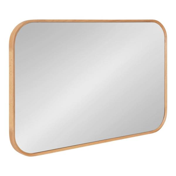 Nordlund 35 in. x 23 in. Classic Rectangle Framed Natural Wall Accent Mirror