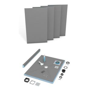 wedi fundo primo 36 in x 36 in shower kit us2000002 the home depot. Black Bedroom Furniture Sets. Home Design Ideas