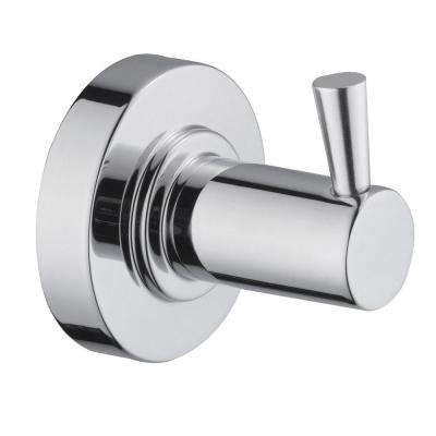 Contemporary Robe Hook in Polished Chrome