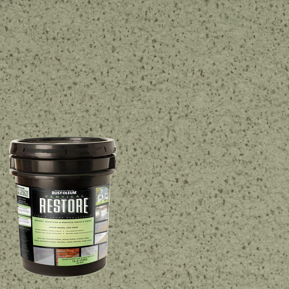 Rust-Oleum Restore 4-gal. Marsh Vertical Liquid Armor Resurfacer for Walls and Siding