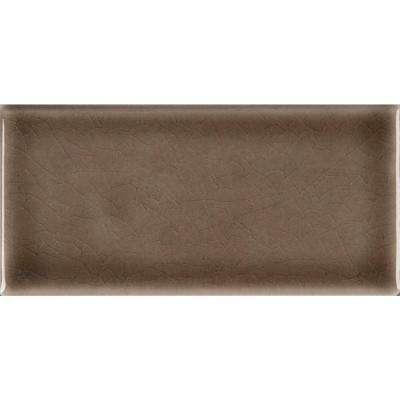 Artisan Taupe Handcrafted 3 in. x 6 in. Glazed Ceramic Wall Tile (1 sq. ft. / case)