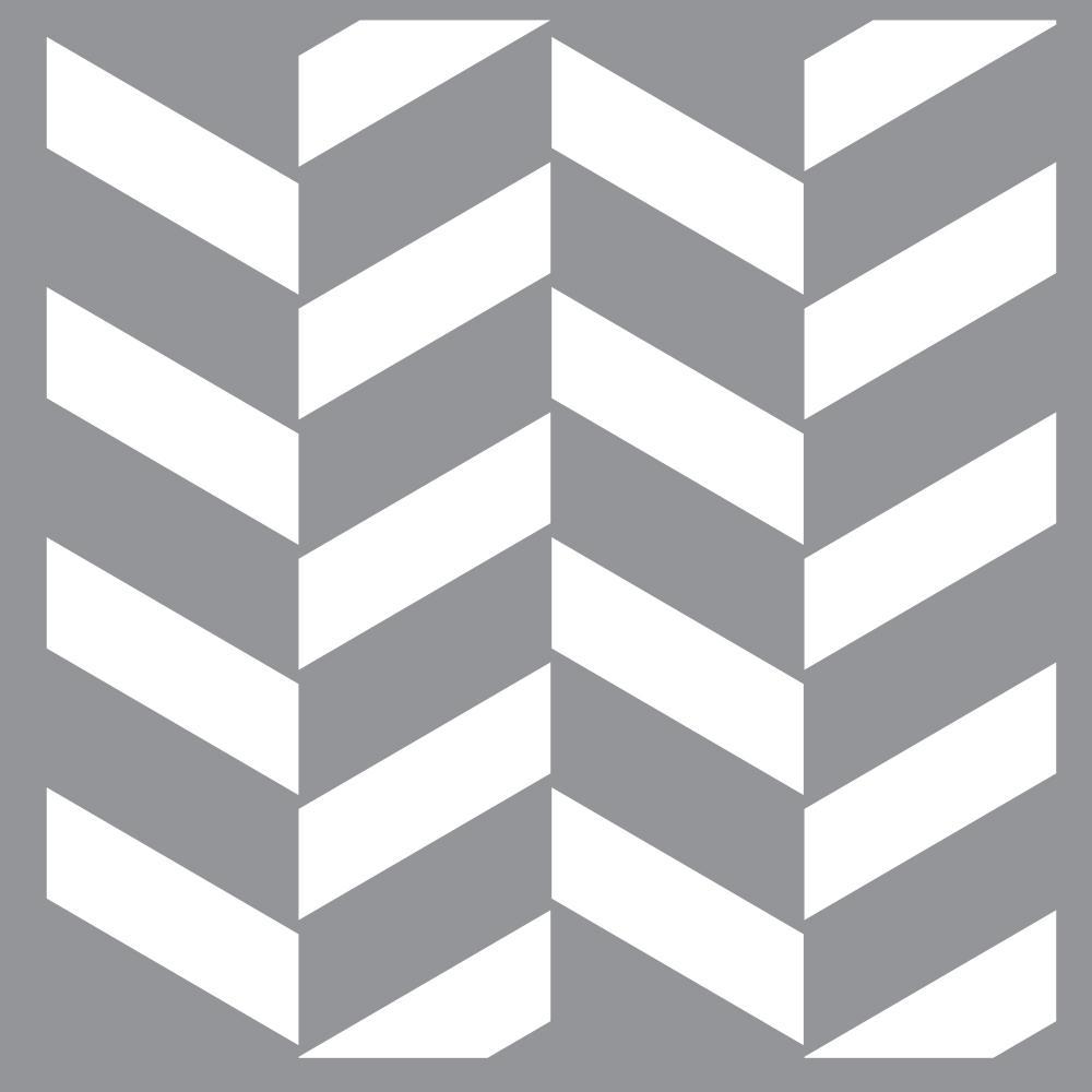 12 in. x 12 in.  Zig-Zag Stencil