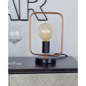 11 inch Rose Gold Square Frame Table Lamp with Bulb