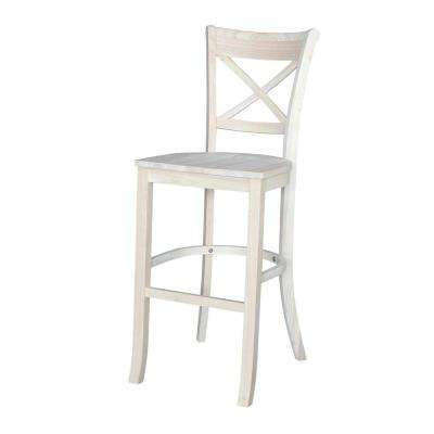 Charlotte 30 in. Unfinished Wood Bar Stool