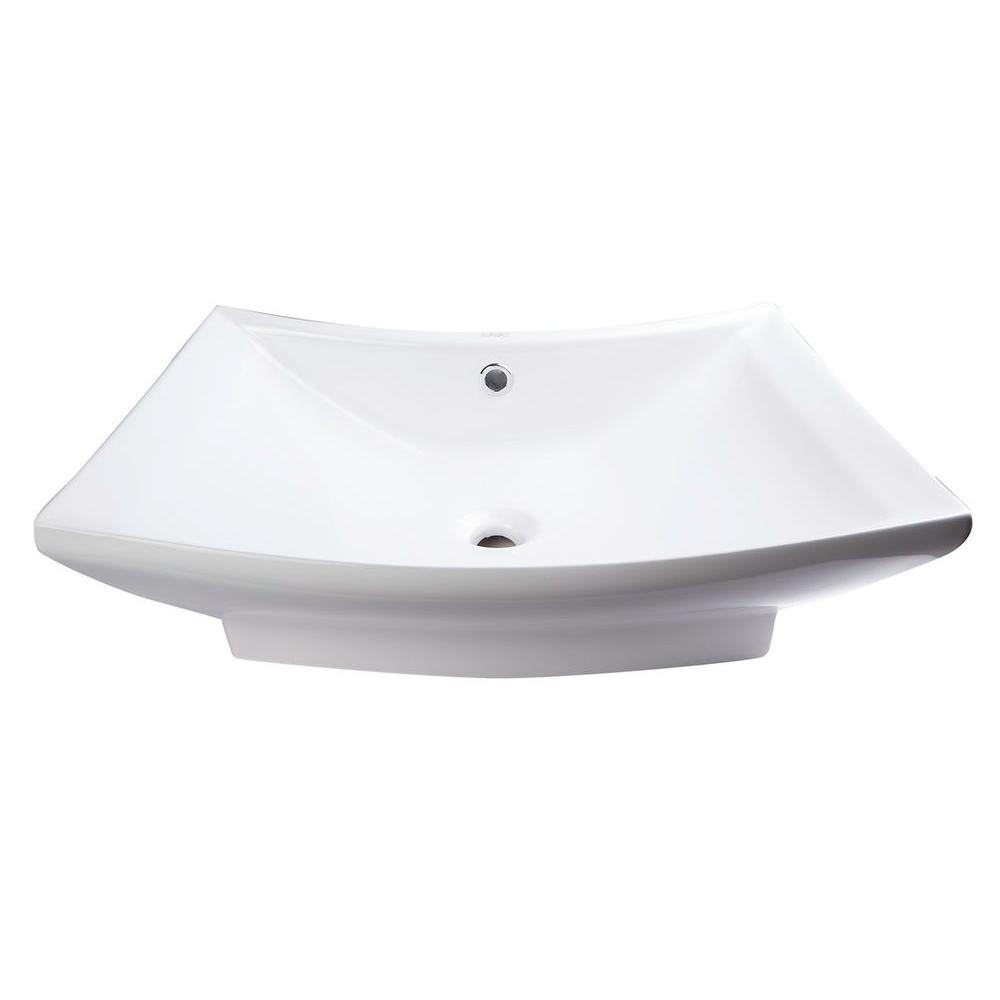 Eago Vessel Sink in White