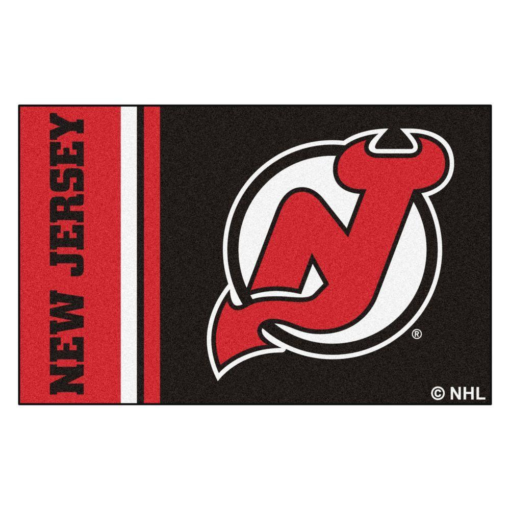 NHL - New Jersey Devils Black 2 ft. x 3 ft. Indoor Area Rug