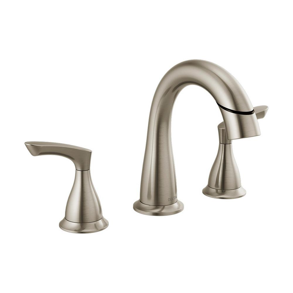 Delta Broadmoor 8 in. Widespread 2-Handle Bathroom Faucet with Pull-Down Spout in SpotShield Brushed Nickel was $182.56 now $127.79 (30.0% off)