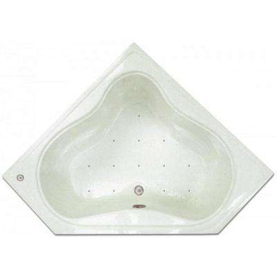 4.48 ft. Corner Drop-In Air Bath Tub in White