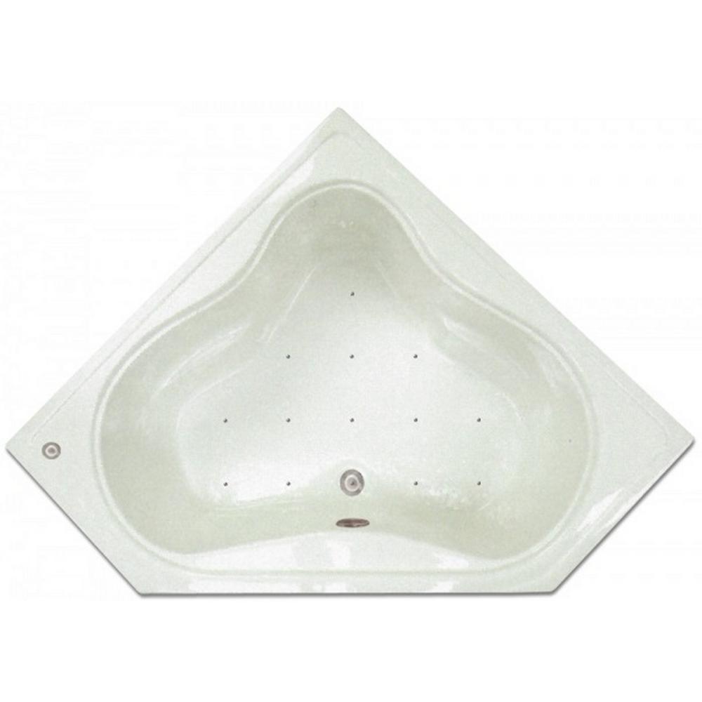 Corner Drop In Air Bath Tub In White