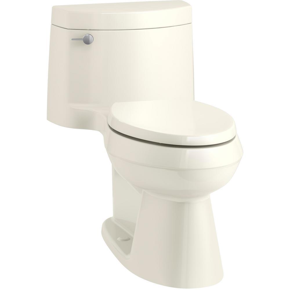 KOHLER Cimarron 1-piece 1.28 GPF Single Flush Elongated Toilet in Biscuit