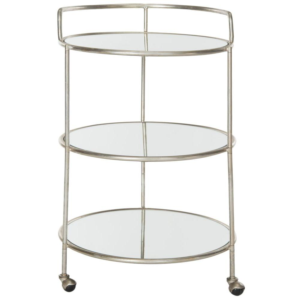 Dulcinea Silver Serving Cart