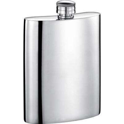 Judge Mirrored Pewter Liquor Flask