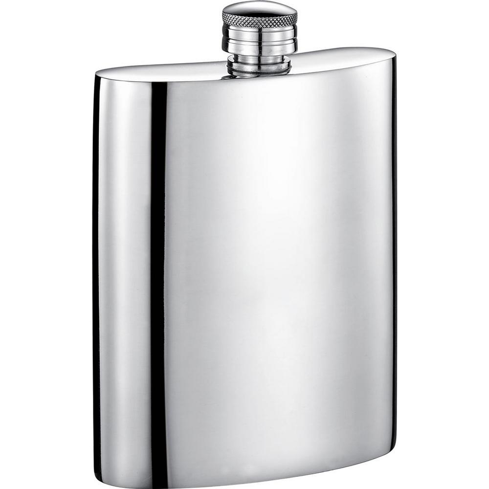 Judge Mirrored Pewter Liquor Flask