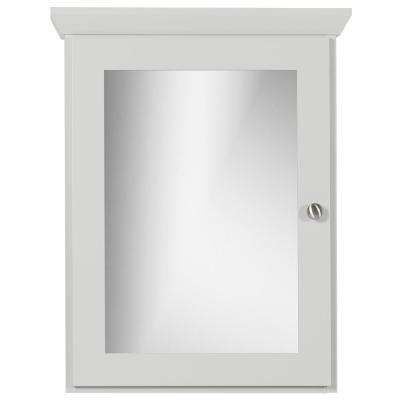 19 in. W x 27 in. H x 6.5 in. D Single Door Surface-Mount Medicine Cabinet Square/Mirror in Dewy Morning