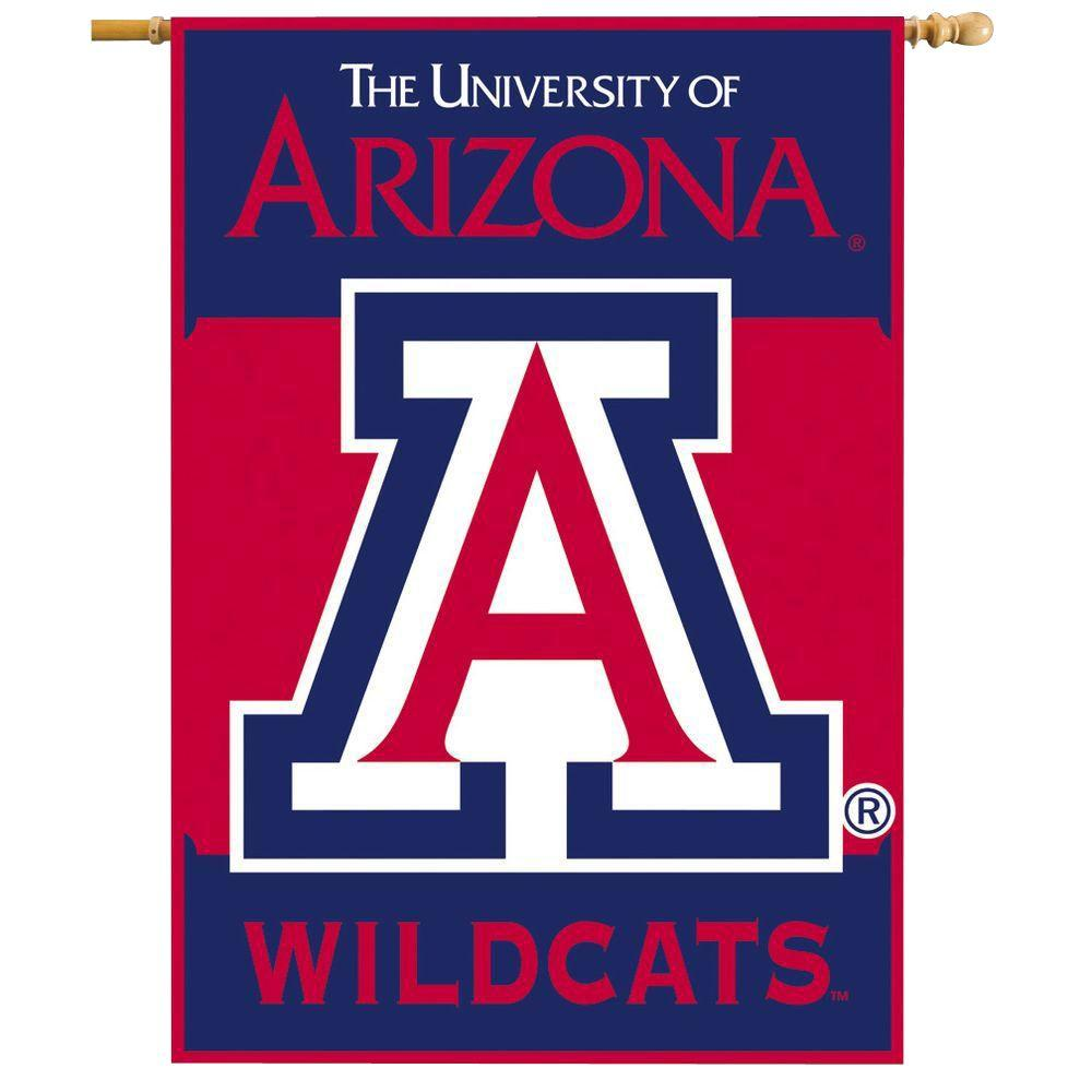 NCAA 28 in. x 40 in. Arizona 2-Sided Banner with Pole