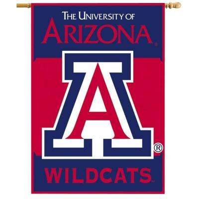 NCAA 28 in. x 40 in. Arizona 2-Sided Banner with Pole Sleeve