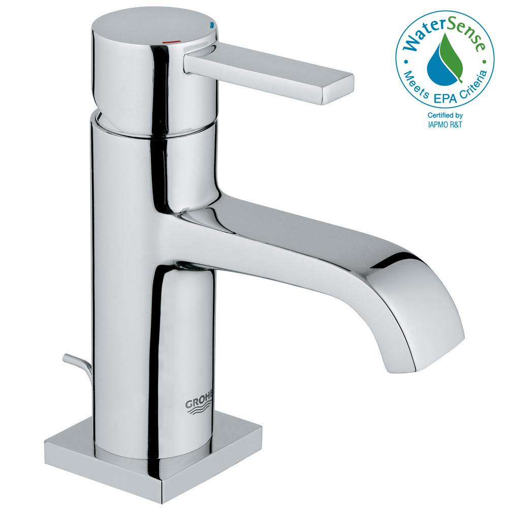 GROHE Allure Single Hole Single-Handle 1.2 GPM Bathroom Faucet in ...